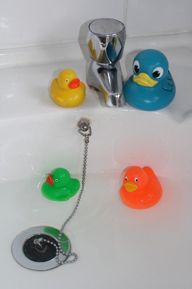 Rubber Ducks Taking a Swim by rubberduck