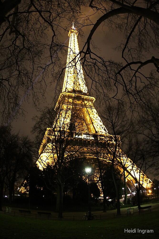 Eiffel Tower, through the trees by Heidi Ingram