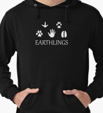 Earthlings Animal Paws - White Lightweight Hoodie