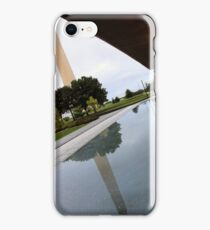 The Washington Monument At An Angle From The Awning And Pond Of The National African American Museum iPhone Case/Skin