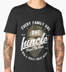 Funcle With A Great Beard | The Fun Uncle Men's Premium T-Shirt