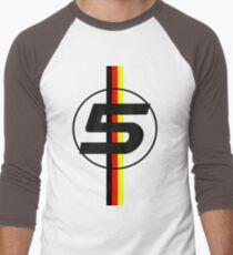Sebastian Vettel #5 German Stripes Men's Baseball ¾ T-Shirt