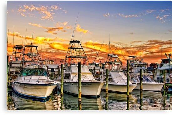 Destin Harbor by Janet Fikar