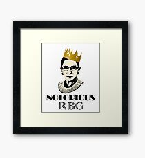 Notorious RBG Framed Print