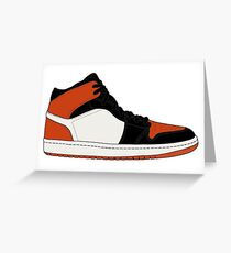 "Air Jordan I (1) ""Shattered Backboard"" Greeting Card"
