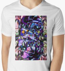 Psychedelic Abstract Men's V-Neck T-Shirt