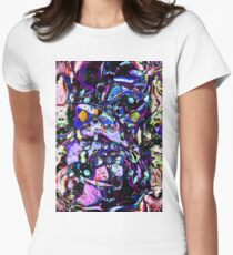 Psychedelic Abstract Women's Fitted T-Shirt