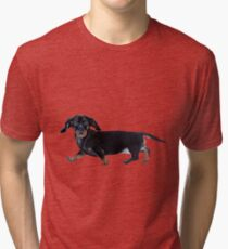 Camiseta de tejido mixto Perrito salchicha
