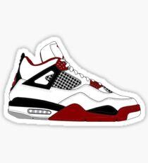 """Air Jordan IV (4) """"Fire Red"""" Sticker"""