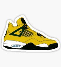 """Air Jordan IV (4) """"Lightning"""" Sticker"""