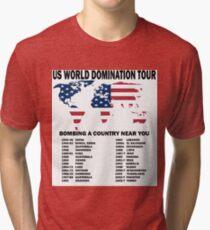 US World Domination Tri-blend T-Shirt