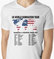 US World Domination Men's V-Neck T-Shirt