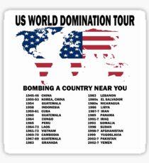 US World Domination Sticker