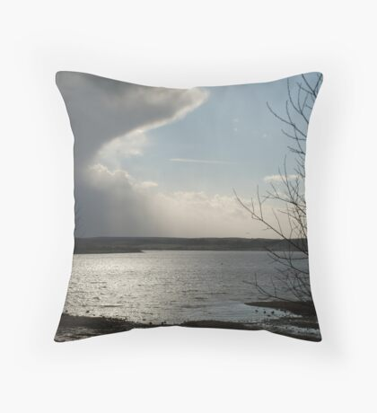 Clouds over Scaling Throw Pillow