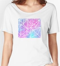 Pastel Geometric Oil Women's Relaxed Fit T-Shirt