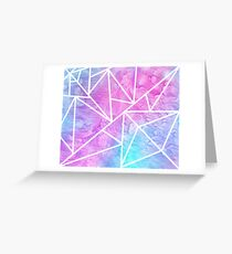 Pastel Geometric Oil Greeting Card