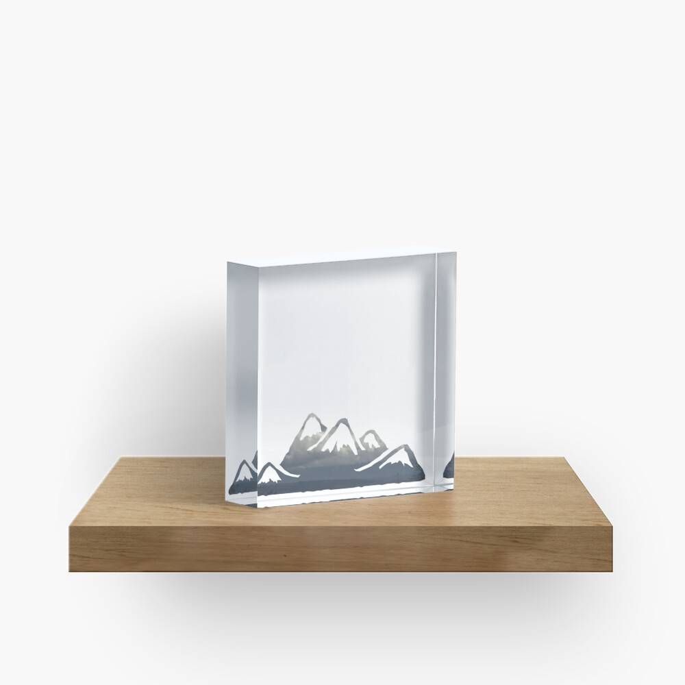 wild cascadia - mountains Acrylic Block