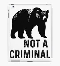bear is not a criminal iPad Case/Skin