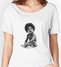 Ready to Die Notorious BIG replica baby print Women's Relaxed Fit T-Shirt
