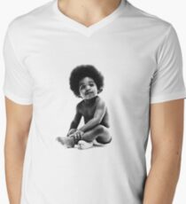 Ready to Die Notorious BIG replica baby print Men's V-Neck T-Shirt