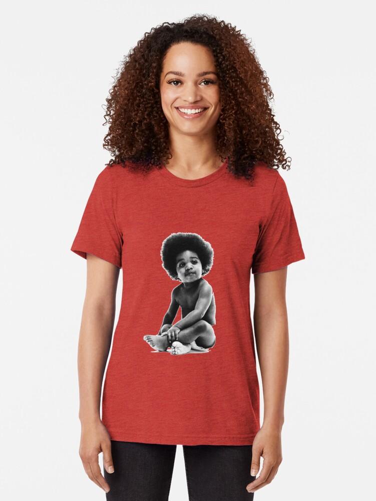 Vista alternativa de Camiseta de tejido mixto Listo para morir Notorious BIG replica baby print