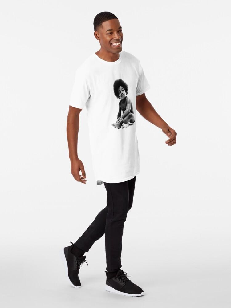 Vista alternativa de Camiseta larga Listo para morir Notorious BIG replica baby print