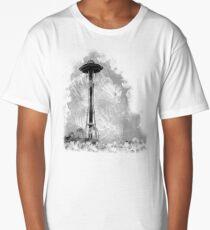 Space Needle In Smoke Long T-Shirt