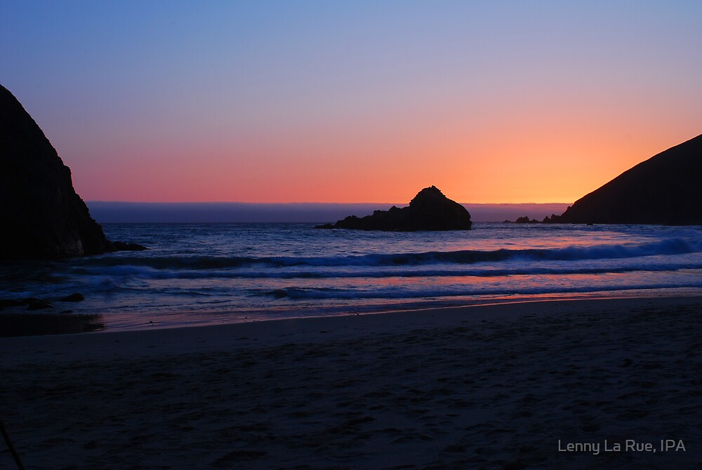 Shooting Beauty: Big Sur's foggy sunset, incoming tide 2 by Lenny La Rue, IPA