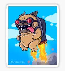 SrEscuerzo Jetpack Pug Sticker