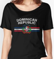 Dominican Flag Shirt - Dominican Emblem & Dominican Republic Flag Shirt Women's Relaxed Fit T-Shirt