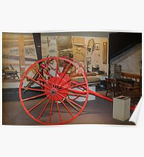 Big Red Wheels Poster