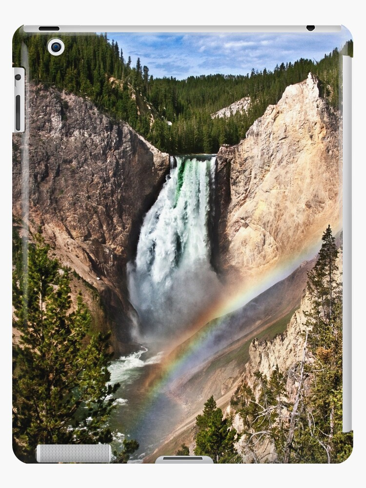 Yellowstone River At  The Lower Falls by Alex Preiss