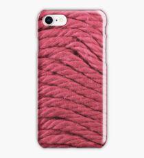 Magenta Yarn Texture Close Up iPhone Case/Skin