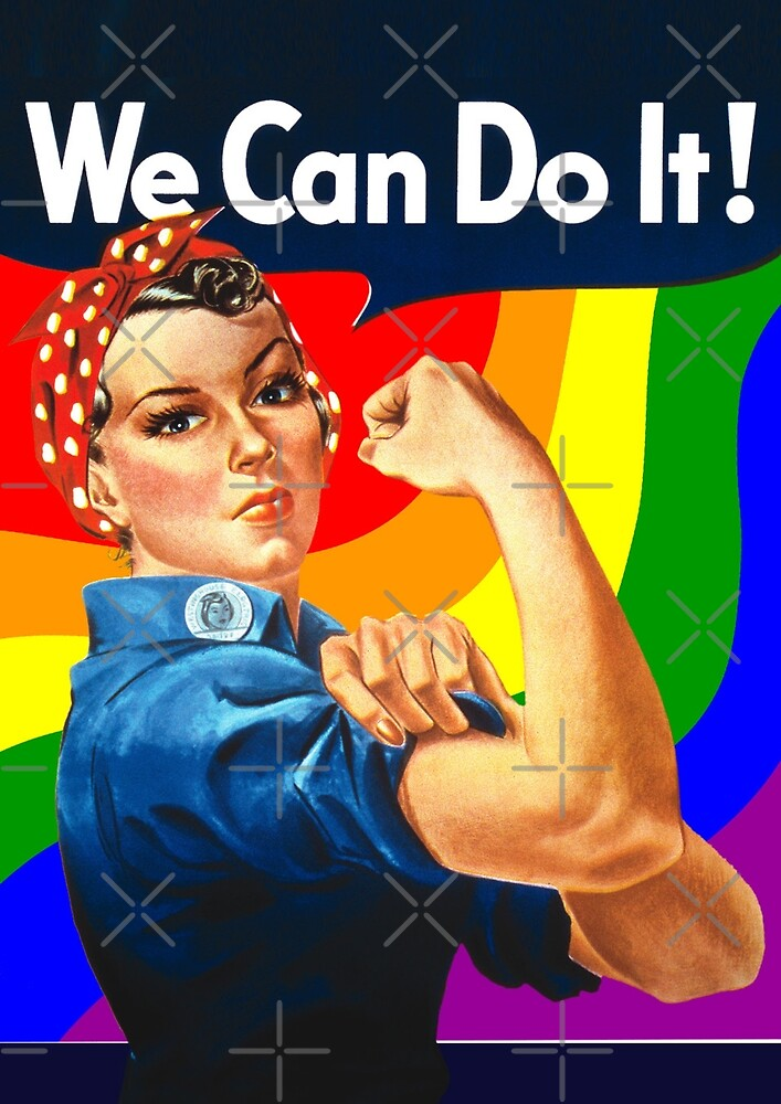 Rainbow Rosie the Riveter by OTBphotography