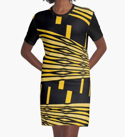 Traffic Jam Graphic T-Shirt Dress