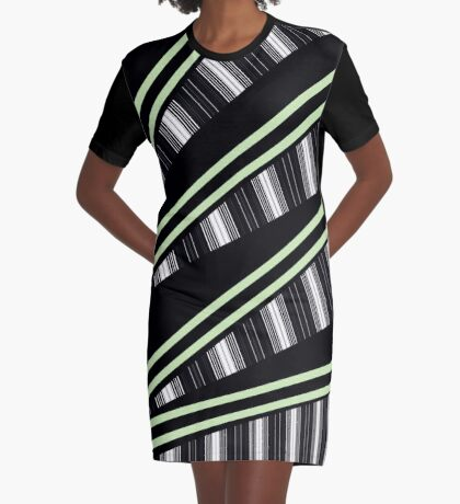 Follow The Lines Graphic T-Shirt Dress