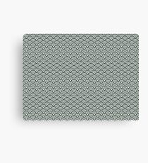 Green Japanese Seigaiha | Pattern  Canvas Print