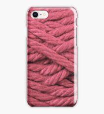 Pastel Red Yarn Texture  iPhone Case/Skin