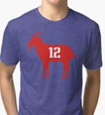 Goat Tom Brady Tri-blend T-Shirt