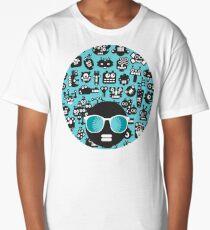 Robots faces blue Long T-Shirt