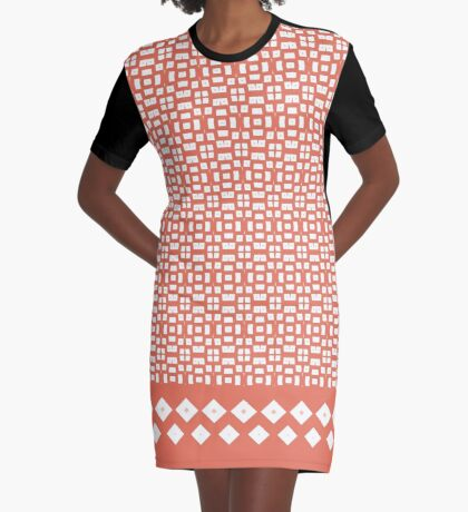 Date Night Orange Sunset  Graphic T-Shirt Dress