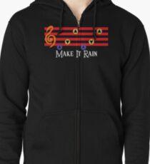 Make It Rain Zipped Hoodie