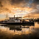 Oscar W in the sunrise by Dave  Hartley