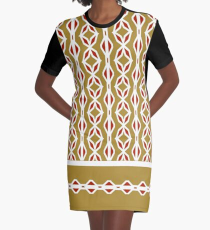 Golden Year Graphic T-Shirt Dress
