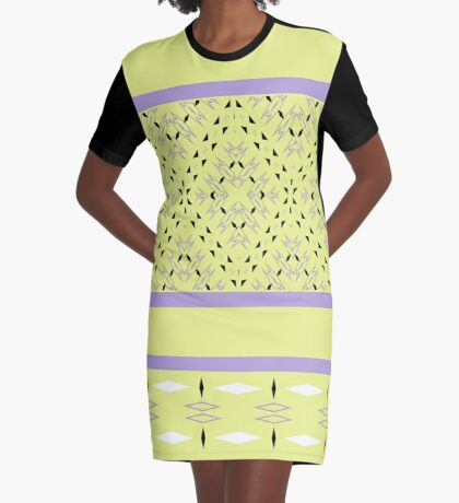 Summer Shapes Graphic T-Shirt Dress
