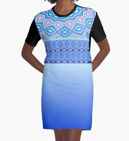 Diamond Eyes Graphic T-Shirt Dress