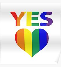 yes vote in marriage equality Poster