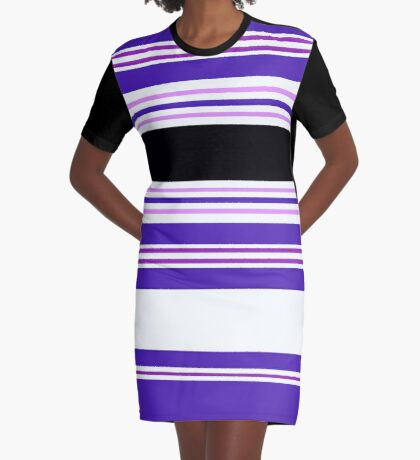 Stripe It In Balance Graphic T-Shirt Dress