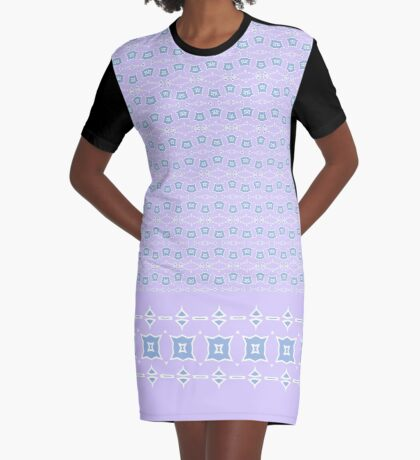 Date Night Soft Mauve Graphic T-Shirt Dress
