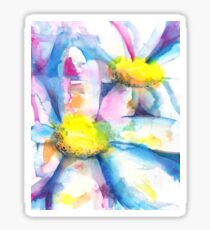 Daisies in watercolors - painting Sticker